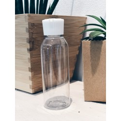 100ml recycled PET empty bottle with white cap - Flacon vide PET recyclé 100ml bouchon blanc